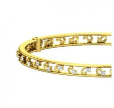 Natural Diamond Bangle 0.70 CT / 20.20 gm Gold