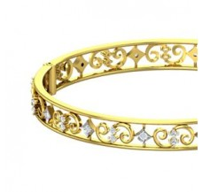 Natural Diamond Bangles 0.60 CT / 20.57 gm Gold