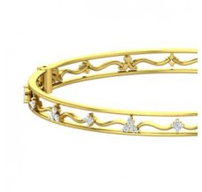 Natural Diamond Bangles 0.85 CT / 19.70 gm Gold