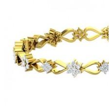 Natural Diamond Bangle 2.36 CT / 21.40 gm Gold