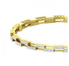 Natural Diamond Bangles 2.45 CT / 18.90 gm Gold