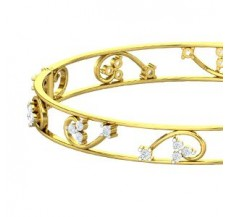 Natural Diamond Bangles 1.50 CT / 20.41 gm Gold