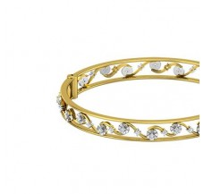 Natural Diamond Bangles 0.65 CT / 21.86 gm Gold