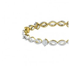 Natural Diamond Bangles 2.80 CT / 17.92 gm Gold
