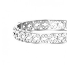 Natural Diamond Bangles 6.63 CT / 24.41 gm Gold