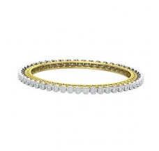 Natural Diamond Bangles 3.55 CT / 19.74  gm Gold
