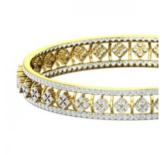 Natural Diamond Bangles 7.20 CT / 29.50 gm Gold