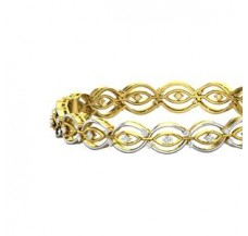 Natural Diamond Bangles 1.05 CT / 28.00 gm Gold