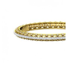 Diamond Bangles 5.87 CT / 17.10  gm Gold