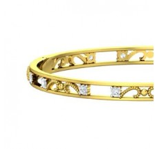 Natural Diamond Bangles 1.12 CT / 17.00 gm Gold