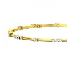 Diamond Bangles 0.80 CT / 9.70 gm Gold