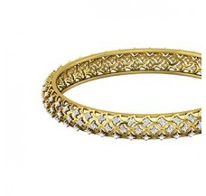 Natural Diamond Bangles 2.52 CT / 21.00  gm Gold