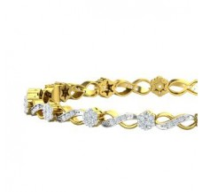 Natural Diamond Bangles 1.65 CT / 15.00 gm Gold