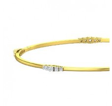 Diamond Bangles 0.75 CT / 9.00 gm Gold