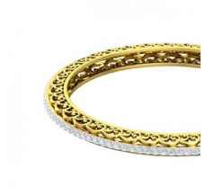 Diamond Bangles 3.92 CT / 24.50 gm Gold