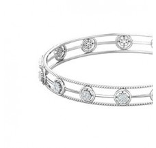 Natural Diamond Bangles 1.12 CT / 6.85  gm Gold