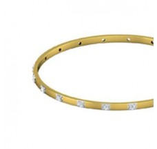 Diamond Bangles 0.80 CT / 9.40  gm Gold