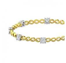 Natural Diamond Bangles 1.20 CT / 11.83  gm Gold