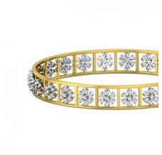 Natural Diamond Bangles 2.52 CT / 20.01  gm Gold