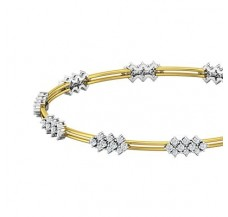 Diamond Bangles 1.64 CT / 10.54  gm Gold
