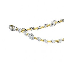 Natural Diamond Bangles 1.95 CT / 13.84  gm Gold