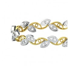 Natural Diamond Bangles 2.56 CT / 20.97  gm Gold