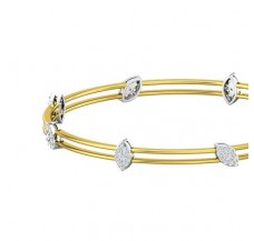 Diamond Bangles 0.79 CT / 11.01  gm Gold