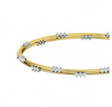 Diamond Bangles 1.10 CT / 9.70  gm Gold