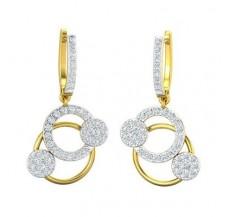Diamond Earrings 0.95 CT / 4.81 gm Gold