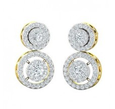 Diamond Earrings 1.58 CT / 6.40 gm Gold