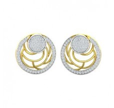 Diamond Earrings 1.09 CT / 6.50 gm Gold