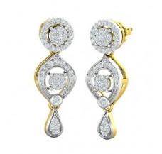 Diamond Earrings 0.87 CT / 6.50 gm Gold