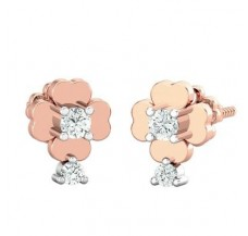 Diamond Earrings 0.18 CT / 2.75 gm Gold