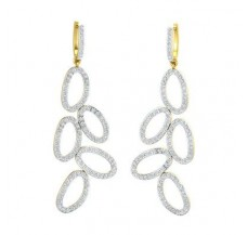 Diamond Earrings 1.89 CT / 6.93 gm Gold