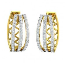 Diamond Earrings 0.87 CT / 6.19 gm Gold