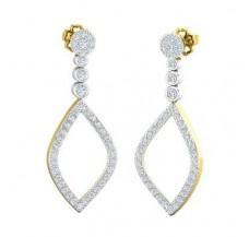 Diamond Earrings 0.95 CT / 5.06 gm Gold