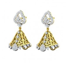 Diamond Earrings 0.82 CT / 6.22 gm Gold