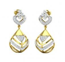 Diamond Earrings 0.76 CT / 4.80 gm Gold