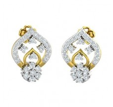 Diamond Earrings 0.67 CT / 3.34 gm Gold