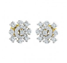 Diamond Earrings 0.80 CT / 3.04 gm Gold