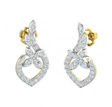 Diamond Earrings 0.62 CT / 3.06 gm Gold