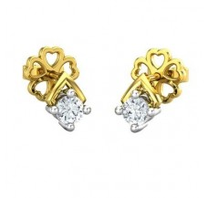 Diamond Earrings 0.13 CT / 1.18 gm Gold
