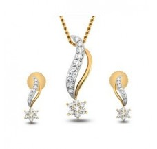 Diamond Pendant Half Set - 0.26 CT / 2.10 gm Gold