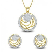 Diamond Pendant Half Set - 1.91 CT / 11.30 gm Gold