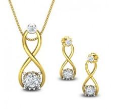 Diamond Pendant Half Set - 0.71 CT / 4.35 gm Gold