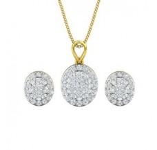 Diamond Pendant Half Set - 1.12 CT / 3.70 gm Gold