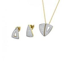 Diamond Pendant Half Set - 0.87 CT / 4.35 gm Gold