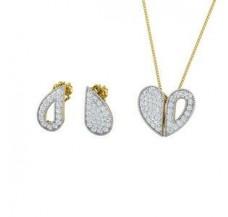 Diamond Pendant Half Set - 0.87 CT / 3.90 gm Gold