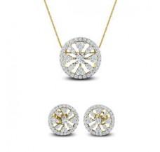 Diamond Pendant Half Set - 1.69 CT / 6.40 gm Gold