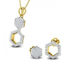 Diamond Pendant Half Set - 0.73 CT / 4.20 gm Gold